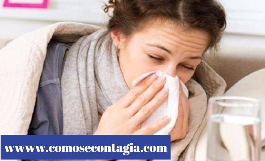 Como se contagia la gripe